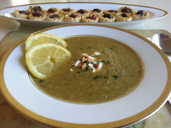 Lamb-&-Lentil-Soup-with-Olive-&-Grilled-Eggplant-Tartlets