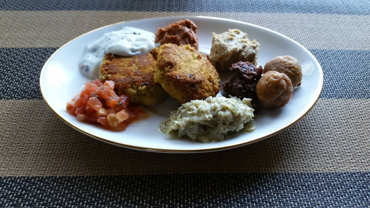 Mediterranean Lunch - Homemade Falafel